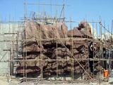 水泥塑石假山制作现场